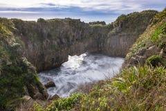 自然池塘在海 免版税库存图片