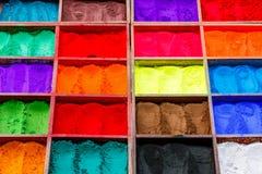 自然油漆粉末 免版税库存图片