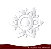 自然泰国装饰品设计卡片的纸3D 免版税库存照片