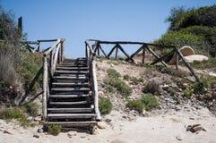自然海运横向在撒丁岛 库存图片