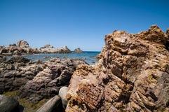 自然海运横向在撒丁岛 免版税库存图片