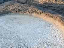 自然海运盐 库存图片