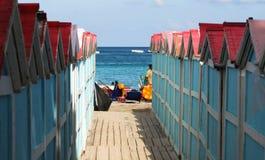 自然海风景海边 免版税库存照片