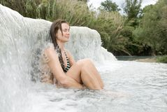 自然温泉 库存图片