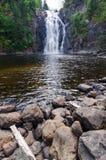 自然瀑布在特隆赫姆 免版税库存照片
