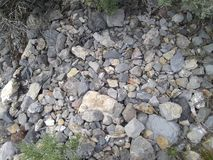 自然灰色岩石 库存照片