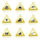 自然灾害的图标 免版税库存图片