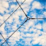 自然热带天空在希腊欧洲和意想不到的神秘主义者 免版税库存照片