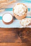 自然牛奶店自创产品 图库摄影