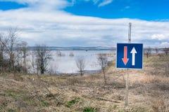 洪水-自然现象 美丽的蓝天 库存图片