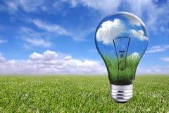 自然电灯泡的横向 库存图片