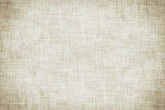 自然白色色的亚麻制纹理或葡萄酒帆布背景 库存例证