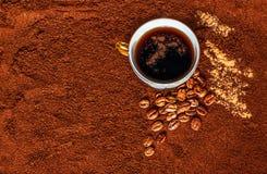 自然的咖啡 图库摄影