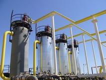 自然的天然气产业 库存图片