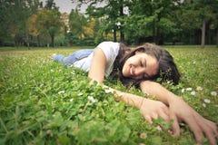 自然的女孩 免版税图库摄影