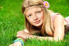 自然的孩子 免版税库存照片