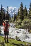 自然的旅游maiking的图片 库存图片
