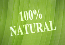 自然的标签 免版税图库摄影