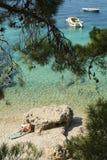自然的海滩 库存照片