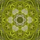 自然的绿色和黄色坛场标志 图库摄影