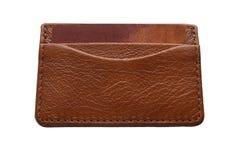 自然皮革钱包 库存照片