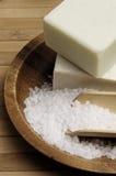 自然盐海运肥皂 免版税库存照片