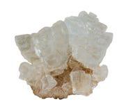 自然盐水晶群 库存照片