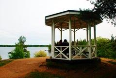 自然眺望台在森林 库存图片