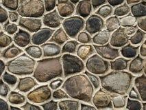 自然石墙石工 库存照片
