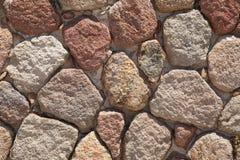自然石墙 免版税库存照片