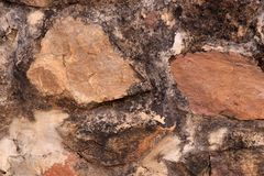 自然石头墙壁  免版税库存图片