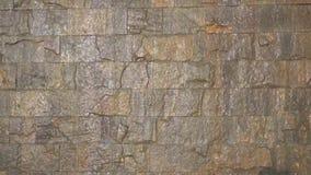 自然石头瀑布墙壁  影视素材