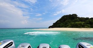 自然石曲拱, Khai海岛, Satun,泰国 图库摄影