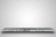自然石桌或柜台空的上面在空白的背景 免版税库存照片