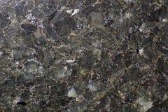 自然石灰色花岗岩,包括,好象云母板材 库存照片
