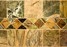 自然石瓦片翻滚了 免版税图库摄影