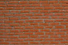 自然砖墙由砖和水泥制成 免版税库存照片