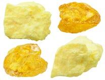 自然硫(硫磺)石头标本  库存照片