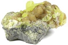 自然硫 库存图片