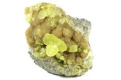 自然硫 免版税图库摄影