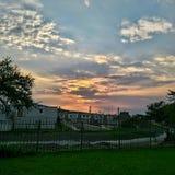 自然秀丽在天空的 图库摄影