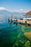 自然秀丽在湖Atitlan的在危地马拉 库存照片
