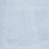 自然粗砺的明亮的蓝色胡麻纤维亚麻制纹理详述了特写镜头,土气被弄皱的葡萄酒被构造的织品粗麻布帆布样式 免版税图库摄影