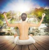 自然精神瑜伽 图库摄影