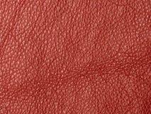 自然红色皮革纹理背景 库存照片