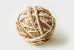 自然羊毛有机丝球  免版税库存图片