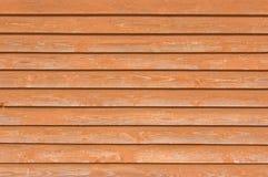 自然老木篱芭板条木接近的板纹理,重叠的轻的红棕色水平的closeboard赤土陶器样式 免版税库存图片