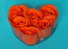 从自然肥皂的红色玫瑰 库存图片