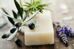 自然肥皂 免版税库存图片
