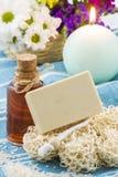 自然肥皂 库存图片